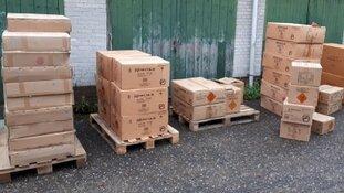 3500 kilo illegaal vuurwerk aangetroffen in Leiden en Wassenaar