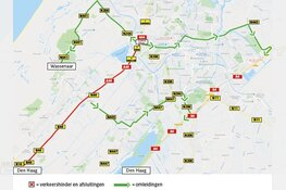 Verkeershinder A44/N44 van 4 tot 7 maart (avond/nacht-werkzaamheden)