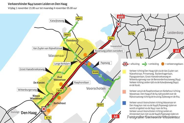 Laatste weekend werkzaamheden Rijkswaterstaat aan de Rijksstraatweg A44/N44