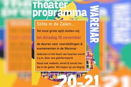 Stilte in de zalen van theater Warenar